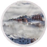 Round Beach Towel featuring the photograph Camouflage - Bryce Canyon, Utah by Sandra Bronstein