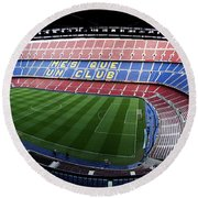 Camp Nou Round Beach Towel