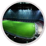Camp Nou At Night Round Beach Towel