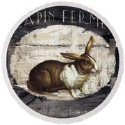 Campagne Iv Rabbit Farm Round Beach Towel