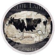 Campagne I French Cow Farm Round Beach Towel