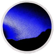 Camping Blues Round Beach Towel