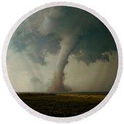 Campo Tornado Round Beach Towel by Ed Sweeney