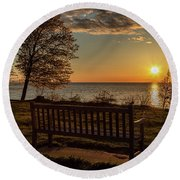 Campus Sunset Round Beach Towel