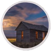 Round Beach Towel featuring the photograph Can You Leave The Light On by Darren White