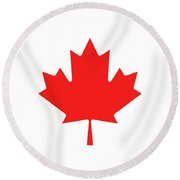 Round Beach Towel featuring the photograph canada Beach towell by Pierre Leclerc Photography