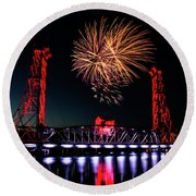 Canada Day 2016 Round Beach Towel by JT Lewis