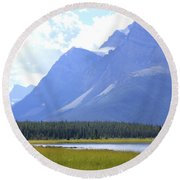 Canadian Mountains Round Beach Towel