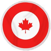 Canada Red Round Beach Towel