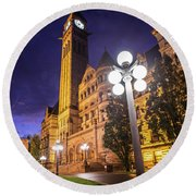Canada150 Toronto Old City Hall  Round Beach Towel