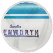 Canadian Kenworth Round Beach Towel