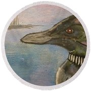 Canadian Loon Round Beach Towel