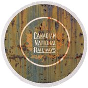 Canadian National Railways  Round Beach Towel