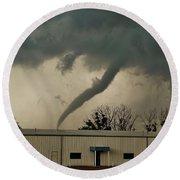 Canadian Tx Tornado Round Beach Towel by Ed Sweeney