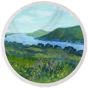 Canandaigua Lake II Round Beach Towel