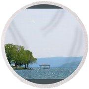 Canandaigua Lake-ii Round Beach Towel