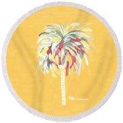 Canary Palm Tree Round Beach Towel