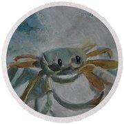Cancer's Are Not Crabby Round Beach Towel by Billie Colson