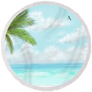 Cancun At Christmas Round Beach Towel