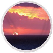 Sunrise Interrupted Round Beach Towel