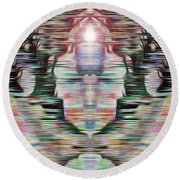 Round Beach Towel featuring the digital art Alignment by Mark Greenberg
