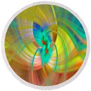 Candle In The Wind Round Beach Towel by Cathy Donohoue