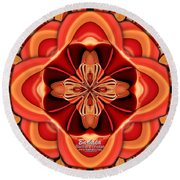 Candle Inspired #1173-4 Round Beach Towel by Barbara Tristan