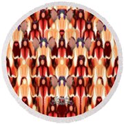 Candle Inspired #1173-8 Round Beach Towel by Barbara Tristan