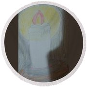 Candle Round Beach Towel