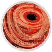 Round Beach Towel featuring the digital art Candy Chaos 1 Abstract by Andee Design