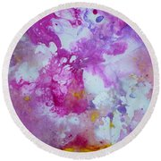Candy Clouds Round Beach Towel