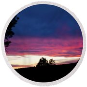 Candy-coated Clouds Round Beach Towel