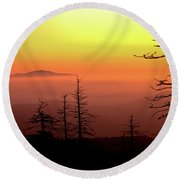 Round Beach Towel featuring the photograph Candy Corn Sunrise by Douglas Stucky