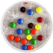 Candy Counter Round Beach Towel