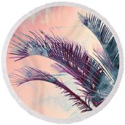 Candy Palms Round Beach Towel by Emanuela Carratoni