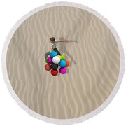 Candy Sand Round Beach Towel