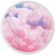 Candy Sky Round Beach Towel