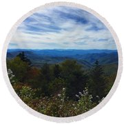 Caney Fork Overlook Round Beach Towel
