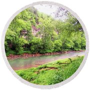 Caney Fork River Round Beach Towel