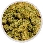 Cannabis Bowl Round Beach Towel