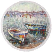 Cannes La Riviera Round Beach Towel