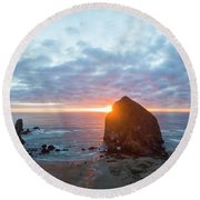 Cannon Beach Round Beach Towel
