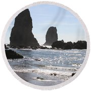 Cannon Beach II Round Beach Towel
