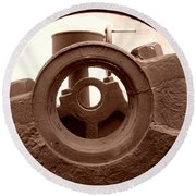 Cannon Parts Round Beach Towel