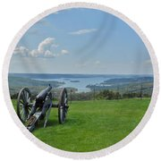 Cannons Ready Round Beach Towel