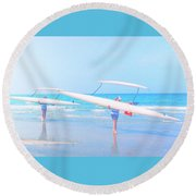 Canoe Ladies Round Beach Towel