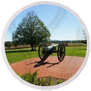 Canon At Antietam Round Beach Towel