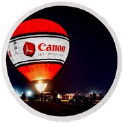 Canon - See Impossible - Hot Air Balloon Round Beach Towel