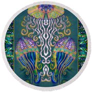 Canopy Under The Sea Round Beach Towel