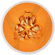 Cantaloupe Melon Inside Round Beach Towel